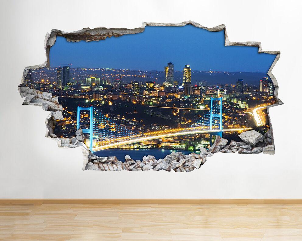 H295 H295 H295 PONTE SUL BOSForo ISTANBUL rossoto murali 3D ARTE Adesivi Vinile Stanza 85b8da