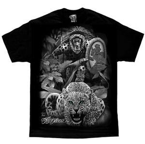 DGA-David-Gonzales-Art-Aztec-Warrior-Native-American-Cheetah-Cat-Jungle-T-Shirt