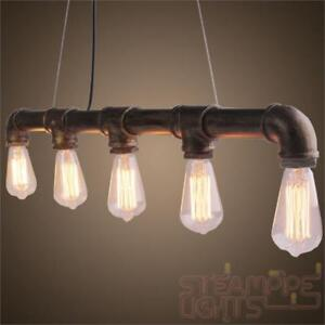 Vintage Light Ceiling Pendant SteamPunk Hanging Kitchen Island Dining Table Room  eBay