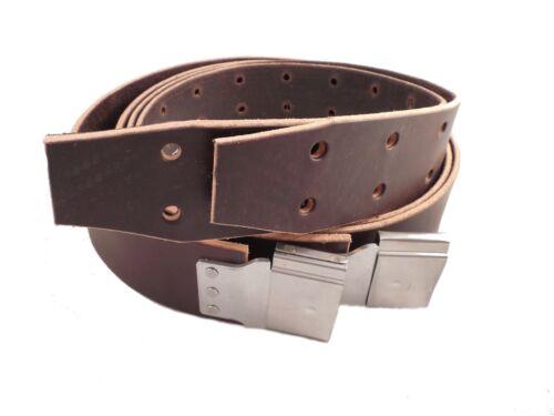 "Amish Made Genuine USA Leather WESTERN STIRRUP STRAPS w// Buckles-BROWN 2 1//2/"""