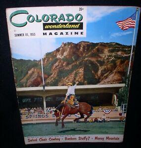 Colorado Wonderland Magazine, Summer 1953~Pike's Peak or Bust Rodeo Cover
