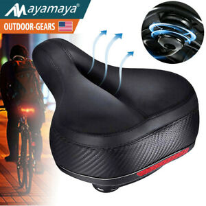 Comfort-Wide-Bike-Seat-Cushion-Soft-Padded-Mountain-Cruiser-Road-Bicycle-Saddle