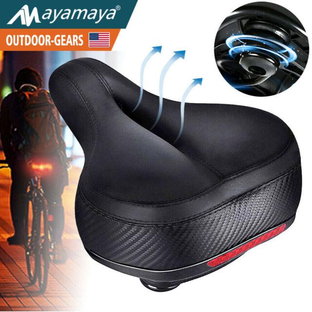 Comfort Wide Bike Seat Cushion Soft Padded Mountain Cruiser Road Bicycle Saddle
