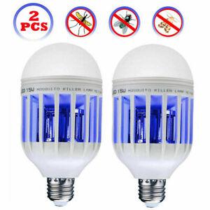 2Packs LED Light Zapper Lightbulb Bug Mosquito Fly Insect Killer Bulb Home Lamp