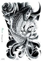Arm temporary tattoos tribal large Carp Waterproof  tattoo sticker body art