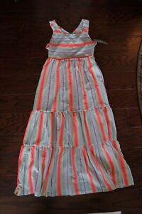 Cat /& Jack Girls 2T Striped Sleeveless Dress Blue Multicolor Spaghetti Strap