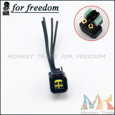 Motor Starter Relay Solenoid Cable Plug For SUZUKI Motorcycle