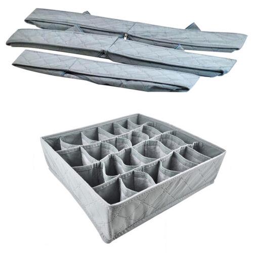 3 Pack Storage Drawer Divider Briefs Box Organiser Tidy Socks Bra Underwear Case
