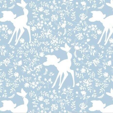 £10.95pm Bambi Print Cotton Fabric for Dressmaking /& Quilting