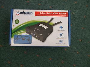 2 Port Kvm Mini Interrupteur, 2 Ordinateurs Avec Un Seul Clavier Etc-afficher Le Titre D'origine éGouttage