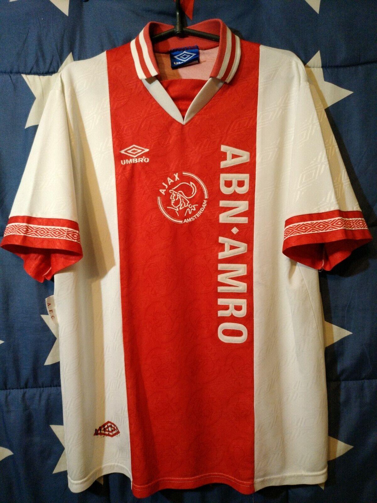 Größe XL AJAX 1994-1995 HOME FOOTBALL SHIRT JERSEY UMBRO