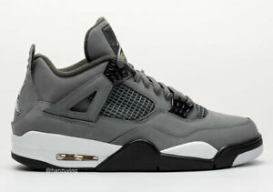the best attitude cdde5 0e025 Details about NEW DS 2019 Nike AIR JORDAN RETRO 4 COOL GREY 308497-007