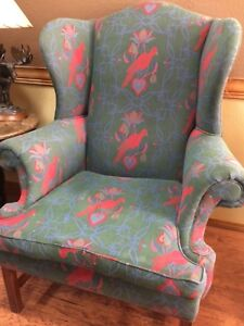 Sensational Details About Bob Timberlake Wing Back Club Chair Dark Green Red Blue Bird Lexington Motif Andrewgaddart Wooden Chair Designs For Living Room Andrewgaddartcom