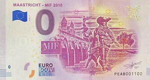 BILLET-0-EURO-MAASTRICHT-MIF-2018-PAYS-BAS-2018-NUMERO-1100