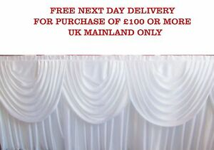 Image Is Loading Silky Satin White DETACHABLE SWAG Wedding Backdrop Curtain