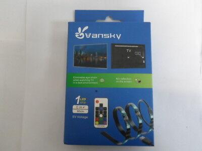 Gewijd Vansky Tv Backlight Kit Bias Lighting For Tv Usb Powered 1 Led Strip Up To 35.4 Comfortabel En Gemakkelijk Te Dragen