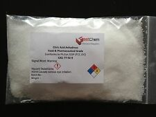 Citric Acid Anhydrous 250g - Food & Pharma Grade (conforms to Ph.Eur/USP/FCC)