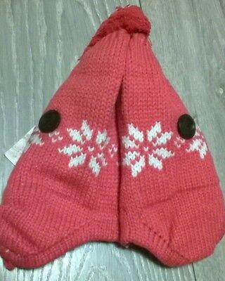 Baby Hat Inverno Caldo Girls Rosa Fiocco Di Neve Beanie Cap 9-12 Mese Nuovo-mostra Il Titolo Originale A Tutti I Costi