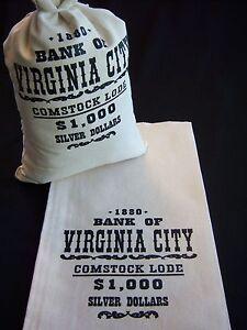 1-CANVAS-MONEY-BAG-DOLLAR-BANK-COIN-SACK-Virginia-City-9-034-x17-034