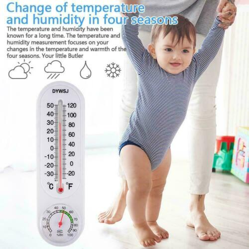 Wall-mounted Analog Thermometer Hygrometer Humidity Monitor Meter X4J4
