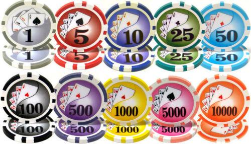 NEW 500 PC Yin Yang 13.5 Gram Clay Poker Chips Set Aluminum Case Select Chips