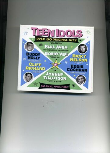1 of 1 - TEEN IDOLS - BOBBY VEE ELVIS MARTY WILDE PAT BOONE ADAM FAITH - 2 CDS - NEW!!