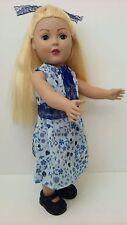 "MADAME ALEXANDER  DOLL 18"" Blonde Strawberry Blonde Hair BLUE EYES Dressed 2009"