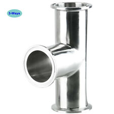 3 Ways Tri Clamp Fittings Kit Stainless Steel Sanitary Fitting Fits 2 Tri Clamp