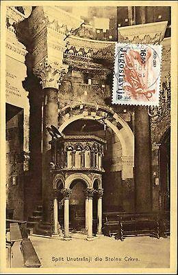 Kreativ Split Spalato Kroatien Ak Jugoslawien Dopisnica Stamp Briefmarke Jugoslavija Kaufen Sie Immer Gut Europa Ansichtskarten