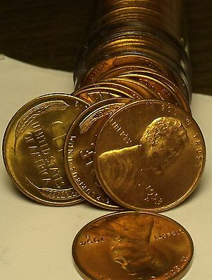 ALL 1953-P 50 ONE ROLL OF WHEAT CENTS