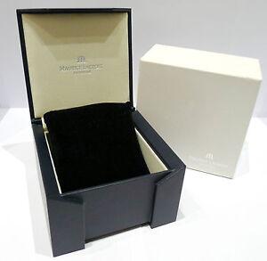 ORIGINAL-MAURICE-LACROIX-BOX-fuer-ARMBANDUHREN-DUNKELBLAU-ca-2000er-Jahre