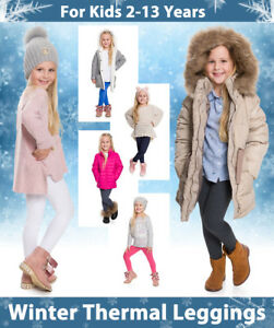 Winter-Thick-Kids-Cotton-Leggings-Thermal-Fleece-Inside-Childrens-Age-1-13-CHD28