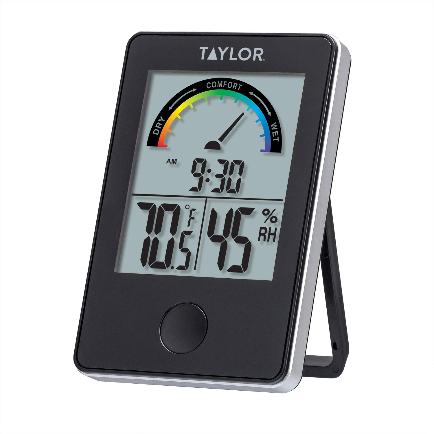 Digital Indoor Comfort Level Thermometer and Hygrometer LCD Clock