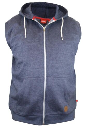 KS16651 D555 KINGSIZE LARGE MENS SLEEVELESS HOODIE HOODY 2XL 3XL 4XL 5XL 6XL
