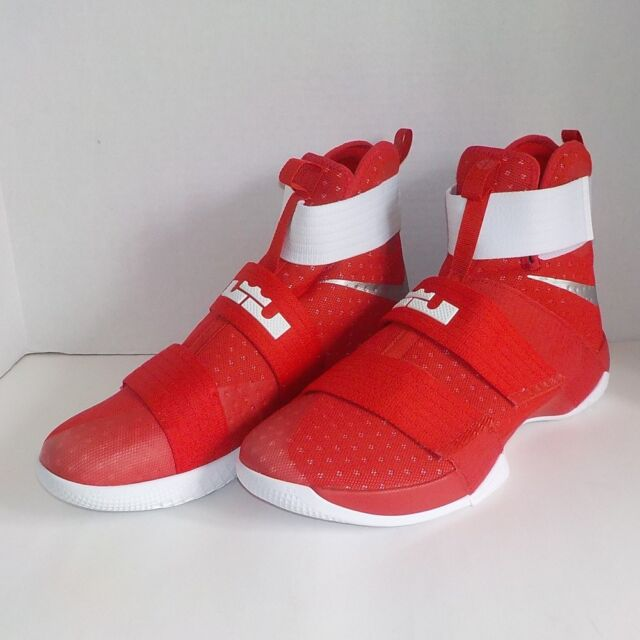 5d541108d03 Nike Lebron SOLDIER X TB PROMO Basketball Shoes RED WHITE 856489 663 Men  Size 16