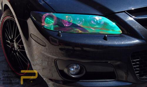 Scheinwerfer Folie Neo Chrom Regenbogen Rainbow Chamäleon Effekt 30 x 120 cm