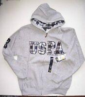 Us Polo Assn Hoodie Sweatshirt Uspa Gray Size 8