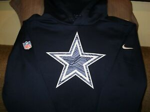 be50e634f Image is loading NFL-Dallas-Cowboys-Nike-Therma-Fit-Sideline-Pullover-