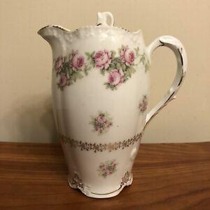 1900s-Porcelain-Chocolate-Coffee-Pot-ZS-amp-Co-Scherzer-Bavaria-Richmond-w-Roses