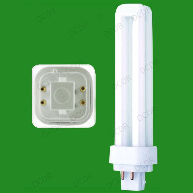 4x 18W G24q-2, 4 pin, Low Energy CFL BLD Double Turn Light Bulb Cool White Lamp