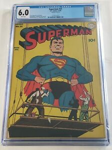 Superman-21-CGC-6-0-77-YEARS-OLD-WITH-White-Pages-INSANE-Classic-Cover-1943