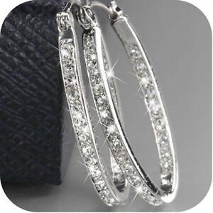 925-Silver-Crystal-Rhinestone-Hoop-Dangle-Earring-Women-Shiny-Fashion-Wedding