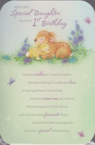 Daughter/'s 1st Birthday Card ~ For A Very Special Daughter On Your 1st Birthday