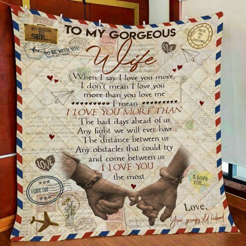 I Love You Letter Quilt Blanket To My Wife