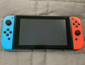Nintendo-Switch-32GB-Console-w-Neon-Red-amp-Blue-Joy-Con-ONLY-WORKS-FLAWLESSLY