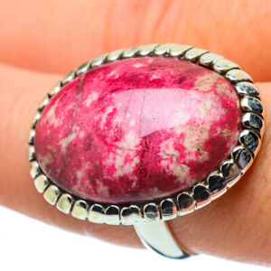 Large-Thulite-925-Sterling-Silver-Ring-Size-8-75-Ana-Co-Jewelry-R34066F