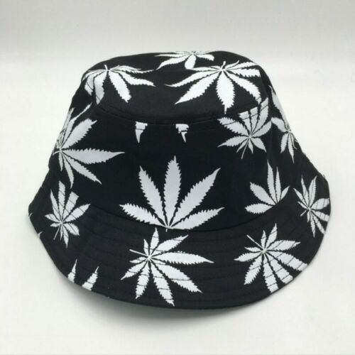 NEW Fashion Women Men Summer Rasta Bucket Hat Hip Hop Green White Colorful Weed