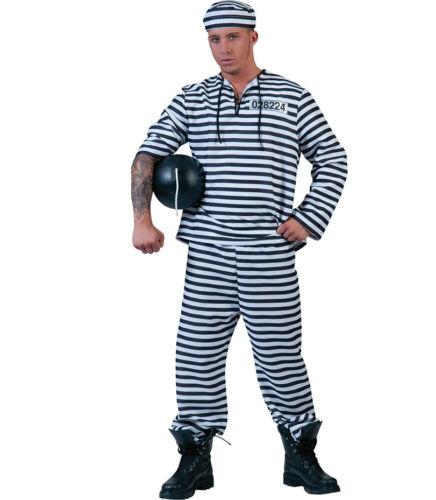 Costume Carcerato Prigioniero a righe bianche e nere  tg 56 a 58
