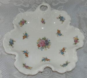 Vintage-Roses-Floral-Decorative-Serving-Plate-Scalloped-Edges