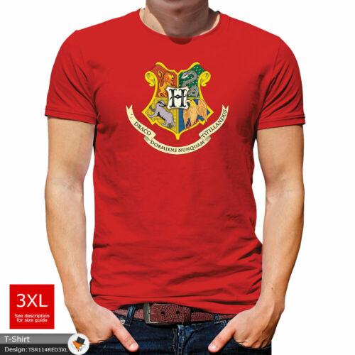Harry Potter T Shirt Mens Tshirt Gray T-Shirt Hogwarts Large Cotton 2XL 3XL